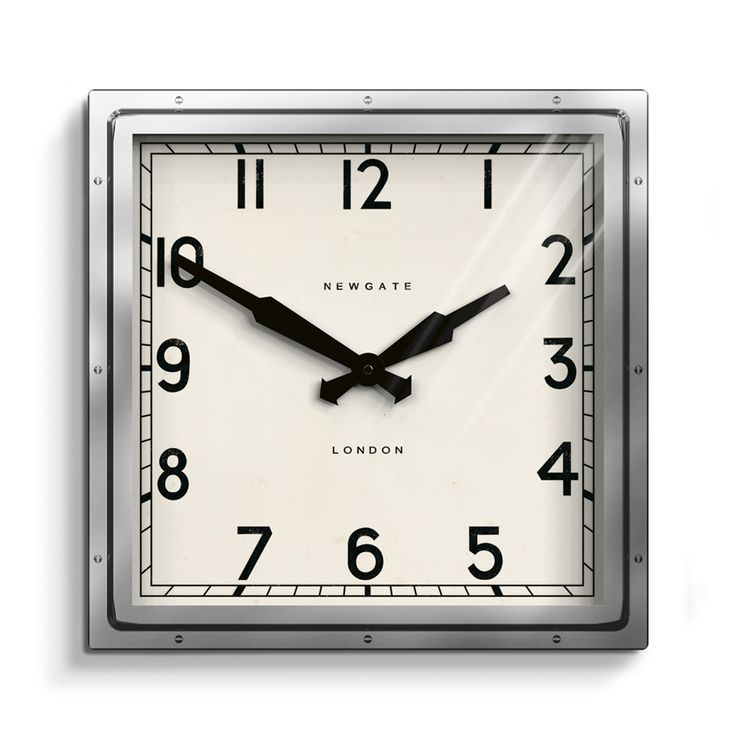 10 best horloges avec des capsules images on pinterest beer cans an architectural square cased metal wall clock with exposed industrial rivets a mid century fandeluxe Choice Image