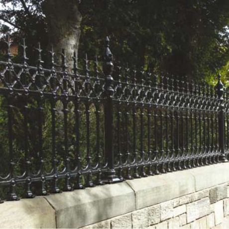 Dumfries Half Height Intermediate Railing Post Cast Iron
