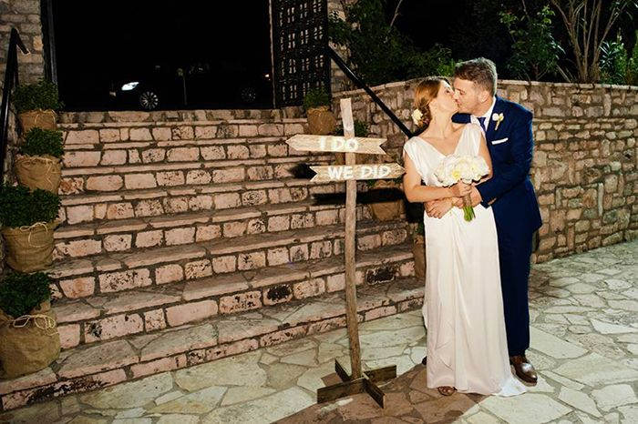 From the I Do's to the We Did! Soooo cute shot by @Anastasios Filopoulos and decoration by @RockPaperScissors