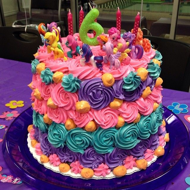 6 Yr Old Girl Cake Ideas : My Little Pony cake gone crazy! A fun birthday cake for my ...