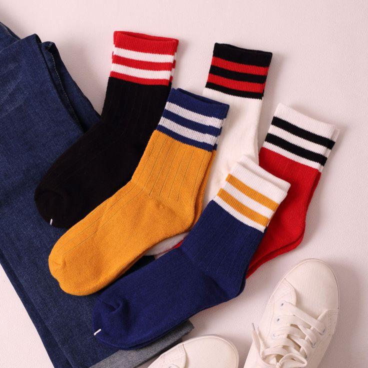Buy Ganki Striped Socks | YesStyle