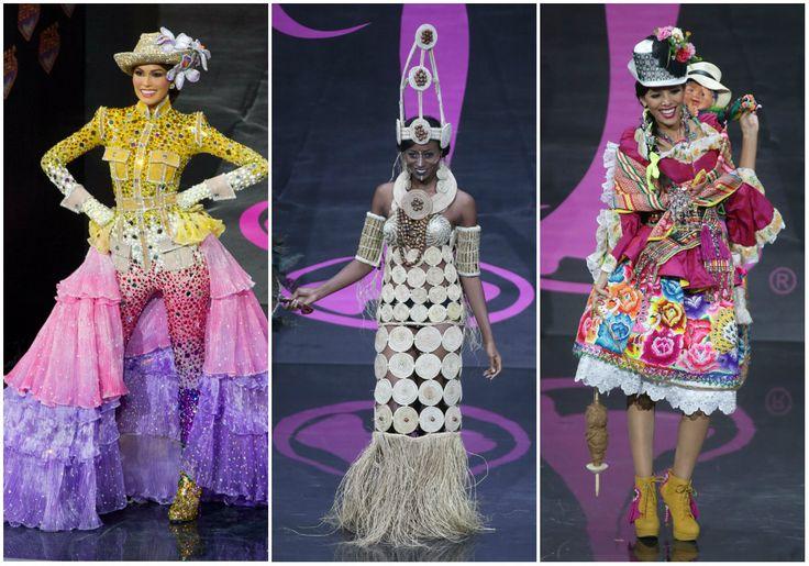 Representantes de #Venezuela (izquierda), #Nigeria y #Perú en el concurso #MissUniverso2013. Siga las noticias del certamen de belleza en: http://www.eluniverso.com/tema/miss-universo