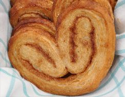For Purim, the Palmiers, a French pastry to remind the misshapen ears of Haman.  An easy recipe on the Aish website. Chag Sameakh! Bonne fête de Pourim !