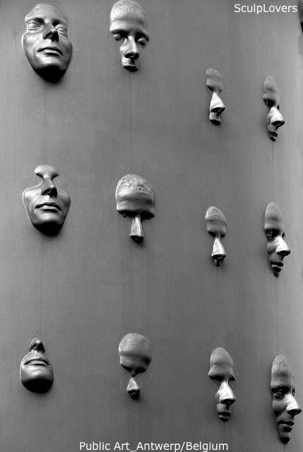 Facing the Shadow Self (Public art Antwerp)