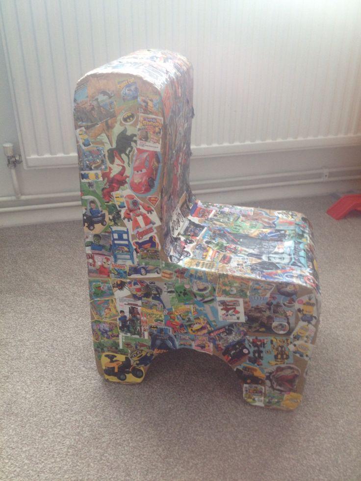 Simple cardboard chair