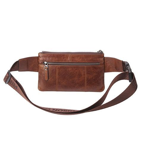 4c15a8eb56 Amazon.com | BISON DENIM Vintage Genuine Leather Waist Backpack Fanny Pack  Travel Hiking Crossbody Messenger Bags Bum Bag Brown | Waist Packs