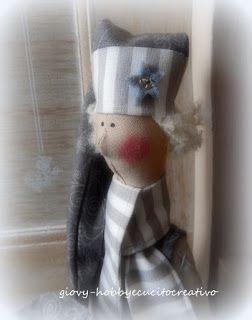 ❤ Giovy hobby e cucito creativo ❤ Elfo di Natale stile tilda