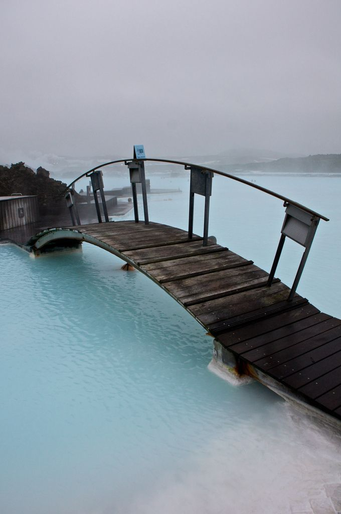 Blue Lagoon Spa, Iceland: Buckets Lists, Dreams, Blue Lagoon Iceland, Bluelagoon, Bridge, Travel Destinations, Hot Spring, Spa, Pictures Day