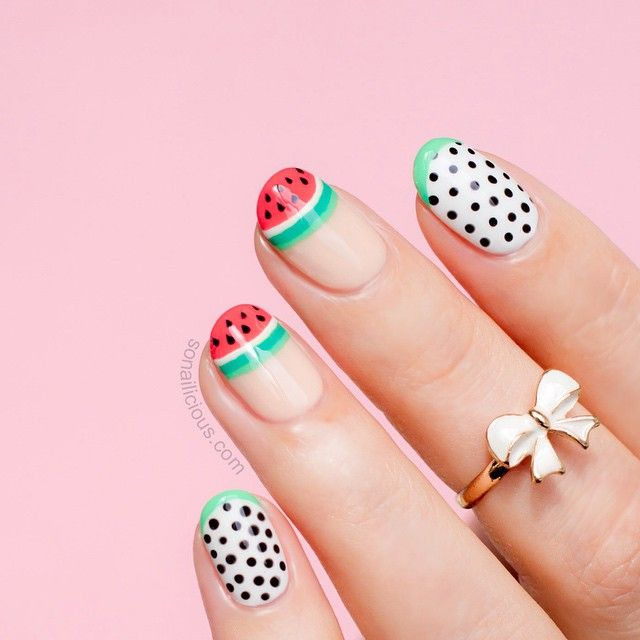 684 best French, Dots, & Stripes images on Pinterest | Nail design ...
