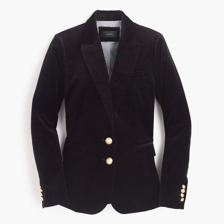 J.Crew Gift Guide: women's velvet blazer.