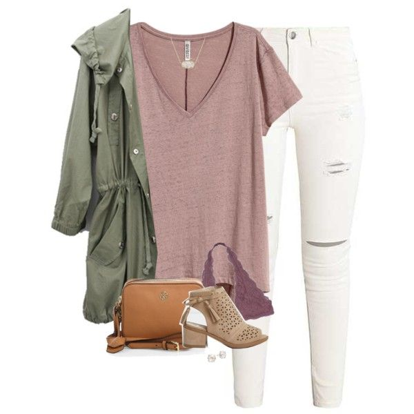 A fashion look from November 2017 featuring H&M tops, Tory Burch shoulder bags and Kate Spade earrings. Browse and shop related looks.
