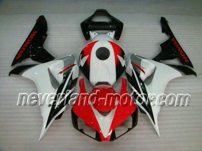 Honda CBR 1000RR 2006-2007 ABS Fairing - White/Red #2007hondacbr1000rrfairings #2006cbr1000rrfairingkit