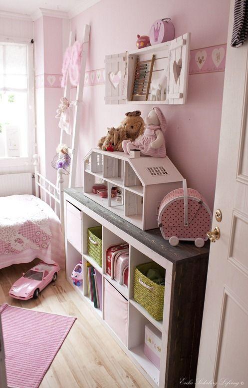 Roze kinderkamer sovrum pinterest barnrum och sovrum - Kinderkamer arrangement ...