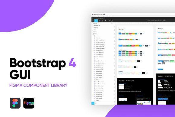 Figma Bootstrap 4 Gui Components Figma Website Template Design