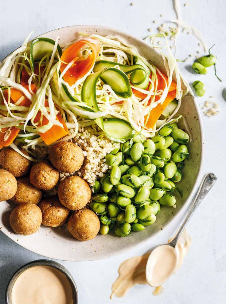 Recipe: Quinoa Bowl with Pickled Vegetables, Edamame and Tofu Balls - Recipes - CBC Life