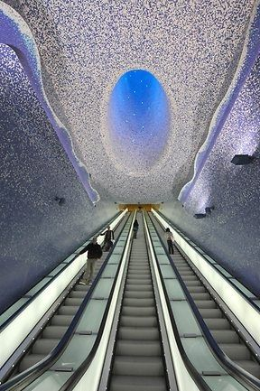 Cathedral Toledo Subway Station, Naples   A1 Pictures