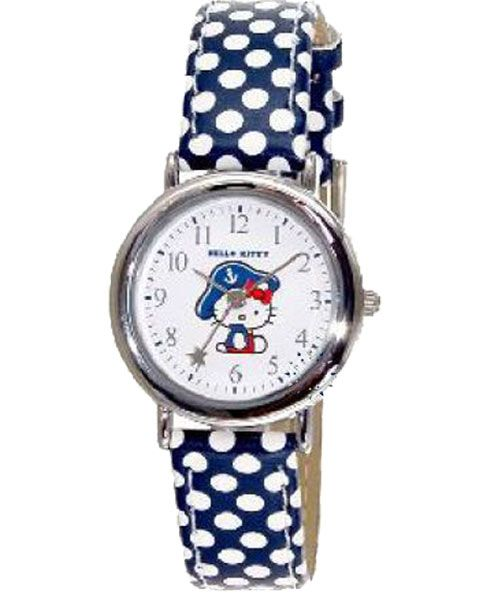HELLO KITTY Kids Blue Leather Strap HK3210-113