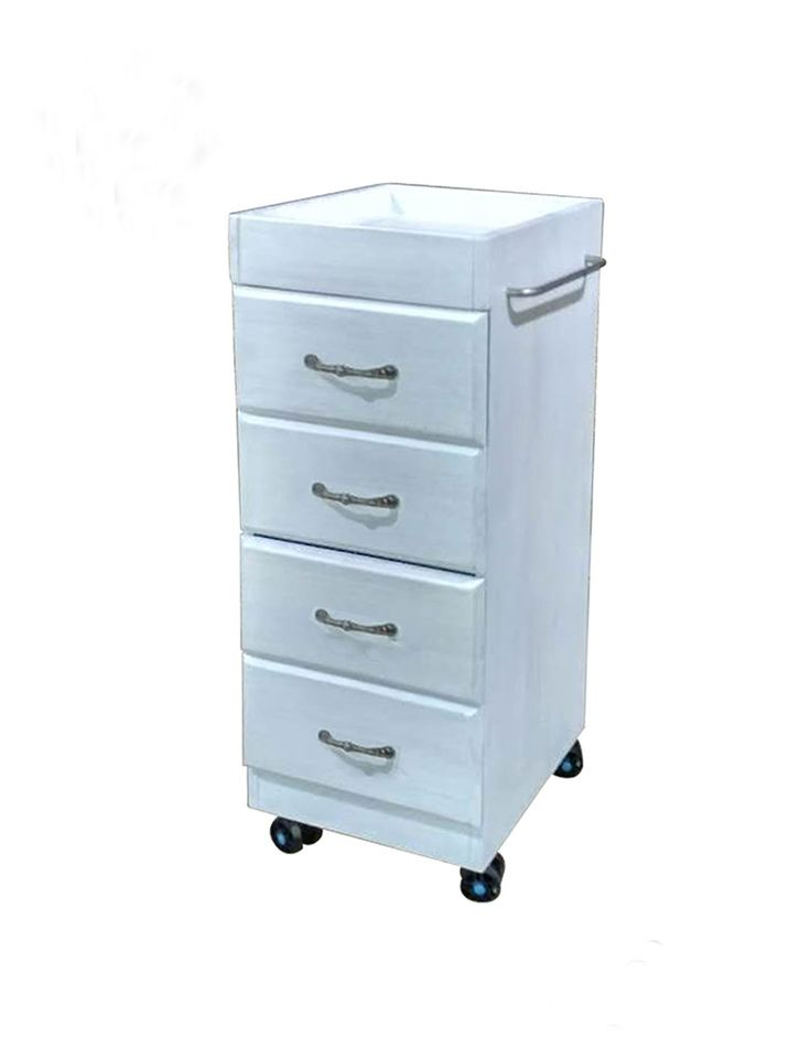 <strong>Premier Lux Salon Trolley</strong> <strong>This wood effect Salon Trolley can be finished in White or Cream. It features a small work surface at the top for all of your tools and it also has five drawers which have an antique looking handle. Perfect for both Hairdressing and Beauty salons. </strong>