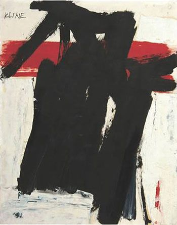 Franz Kline, Untitled 1957 C on ArtStackFranz Kline. Franz Kline Paintings, plastic arts, visual arts, art, abstract expressionism