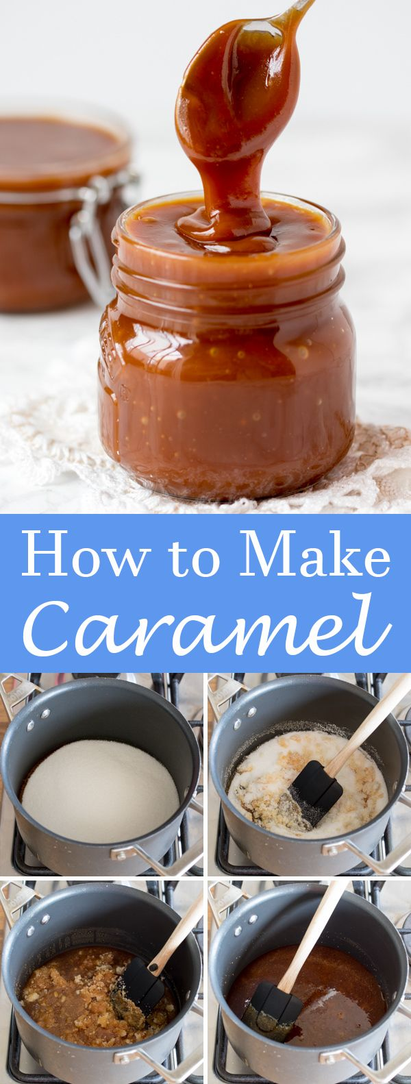 Easy steps to make caramel sauce at home.