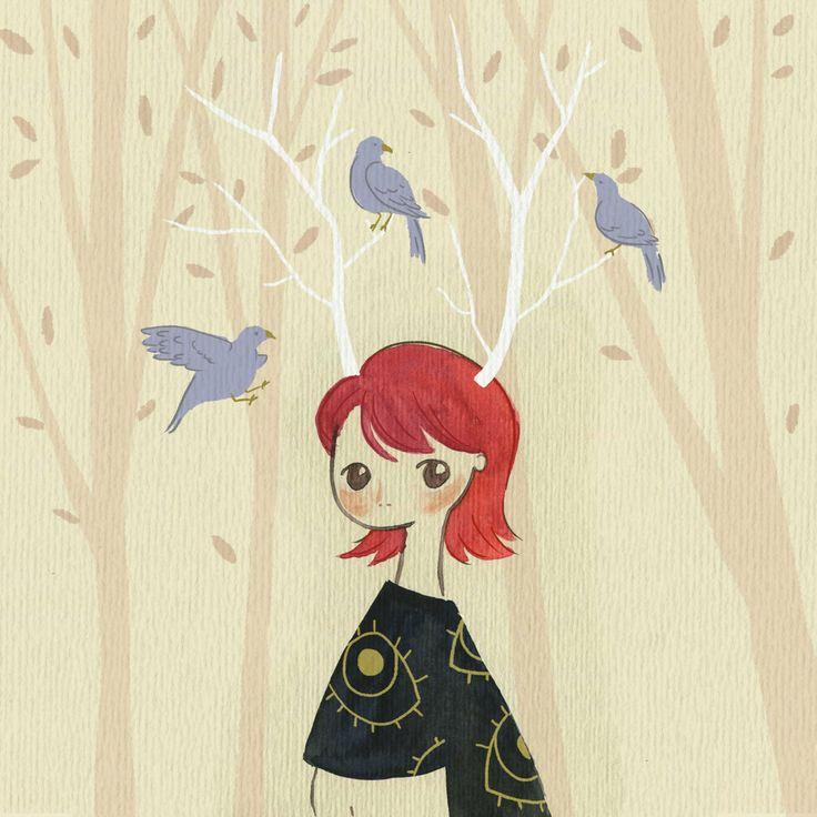 Bluebirds on my head by Nafz18.deviantart.com on @deviantART