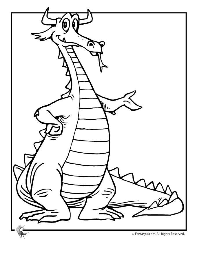 Cartoon Dragon Coloring Pages Cartoon Dragon Coloring Page – Fantasy Jr.