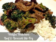 Weight Watchers Beef & Broccoli - I am so glad I found this recipe. It's insanely good. The whole family loved it. #WeightWatchers #recipes #beef