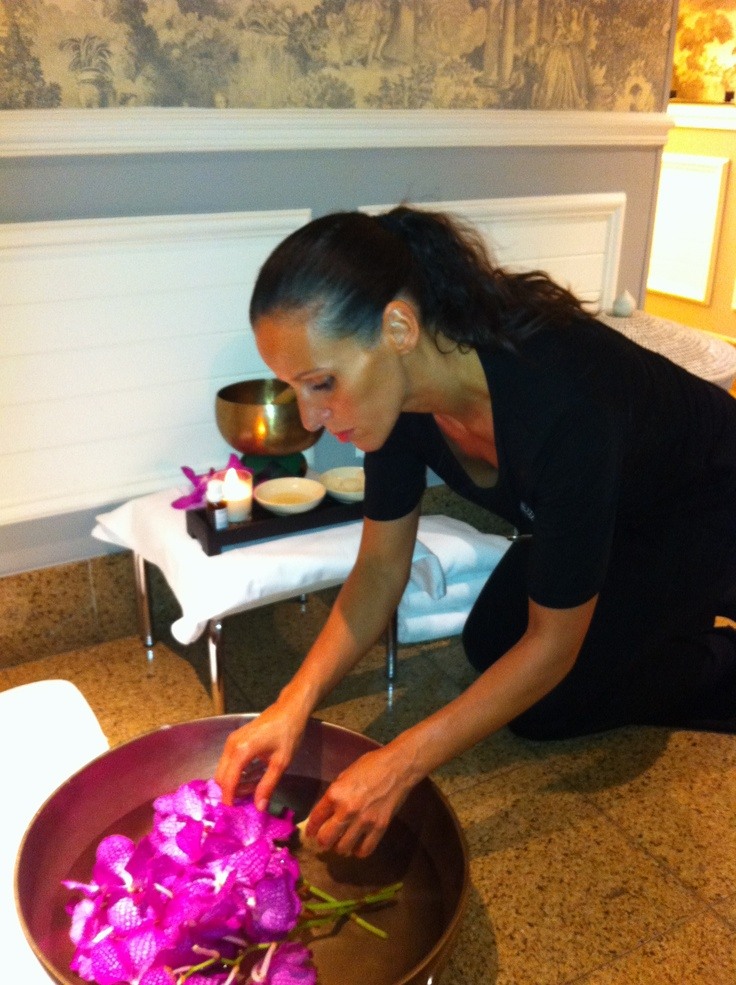Have you ever tried the Tropical Magnolia treatment? It starts with a Foot Ritual... - Four Seasons Hotel George V