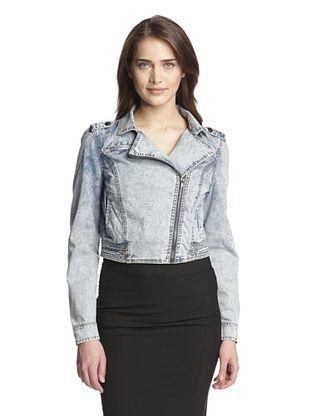 53% OFF Dex Women's Denim Jacket with Asymmetrical Zipper (Mineral Wash Denim)