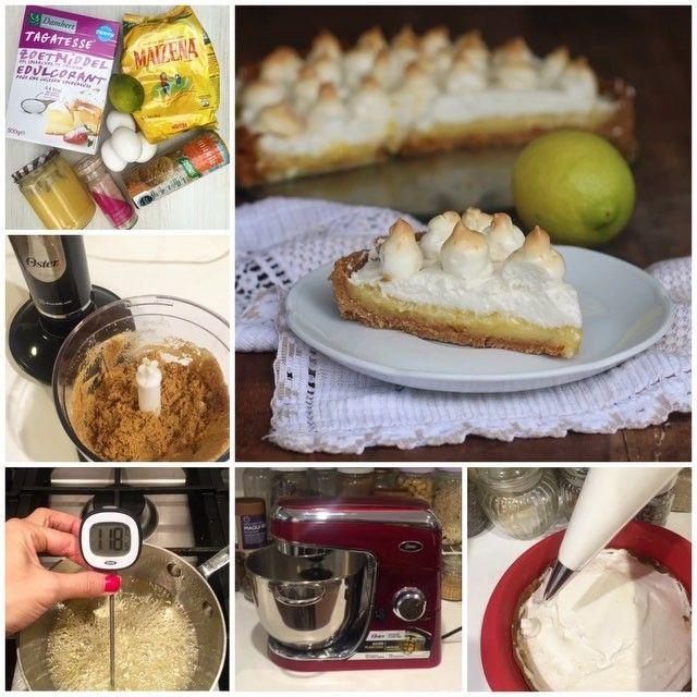 """Este pie de limón saludable queda demasiado ultra rico!👌🏻😋 Ingredientes: Base: • 30 galletas """"María"""" sin azúcar • 3 cdas. tagatosa • 5 cdas. ghee (o aceite coco) Crema: • 3 yemas • 3/4 taza tagatosa • El jugo y ralladura de 1 limón grande • 1 taza agua • 3 cdas. maizena • 3 cdas. ghee • 1 cdta. goma xanthan o agar agar (opcional) Merengue: • 140 gr claras • 140 gr @tagatosa.chile • 50 ml agua 👇🏻 1. Base: Procesa las galletas junto a la tagatosa y ghee derretido. Yo lo hice con mi…"""
