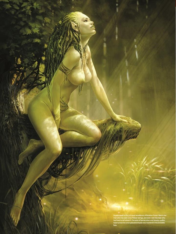 hot nude women under weeping willow tree