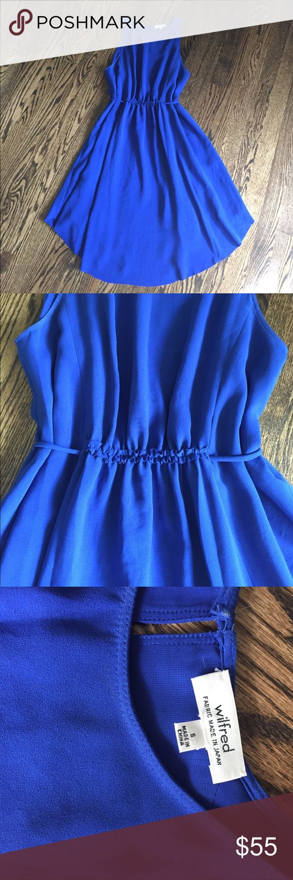 Wilfred royal blue dress by Aritzia. Sz Small