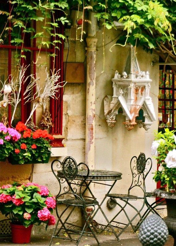 Paris Cafe Photo - Parisian Home Decor - Colorful Garden Print - Paris ...914 x 1280 | 302.8KB | www.etsy.com