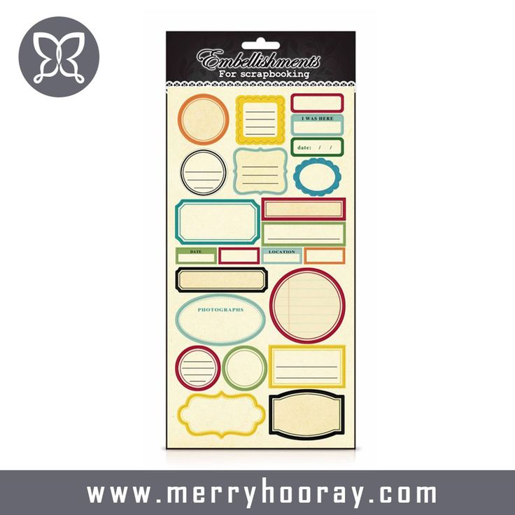 Customized Printing Paper Promotional Sticker For Scrapbooking