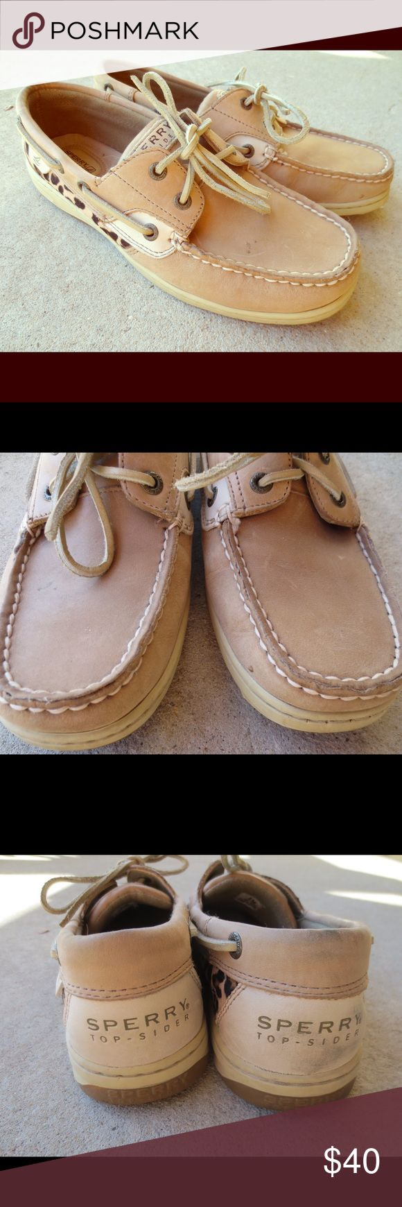 Sperry leopard (or cheetah) shoes Sperry leopard shoes in great condition. Some scuffs and marks that you may be able to clean up. Women's size 8. Sperry Top-Sider Shoes Flats & Loafers