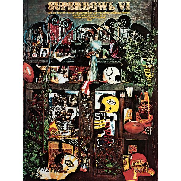 "Fanatics Authentic 1972 Cowboys vs. Dolphins 36"" x 48"" Canvas Super Bowl VI Program - $199.99"