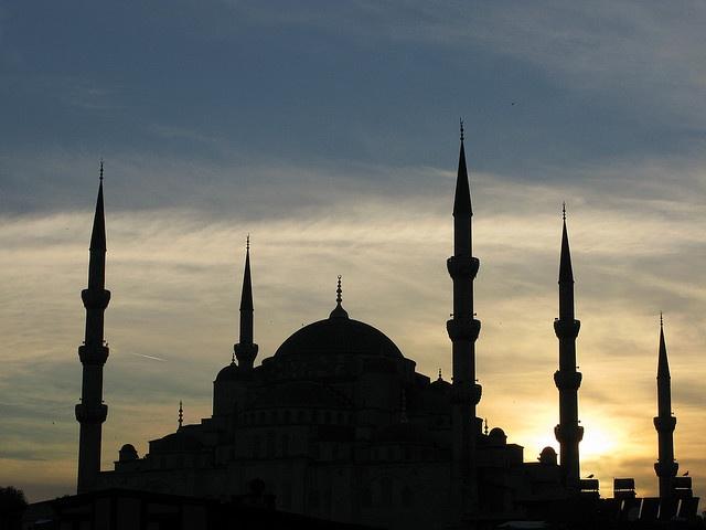 Blue Mosque Sillouette
