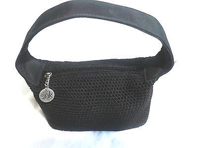 The Sak Black Crotchet Purse Mini Bag~Hand Made