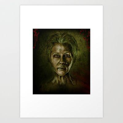 """""""Carol Peletier aka Melissa McBride"""" Art Print by Magdalena Sky - $22.88"""