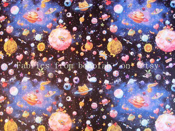 3275A 1 yarda de tela impermeable de vinilo universo por bobofab