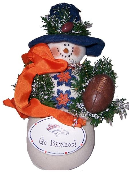 Handcrafted Cloth Snowman Denver Brocos NFL Football [bronco] - $39.10 : Bargains From The Bluegrass