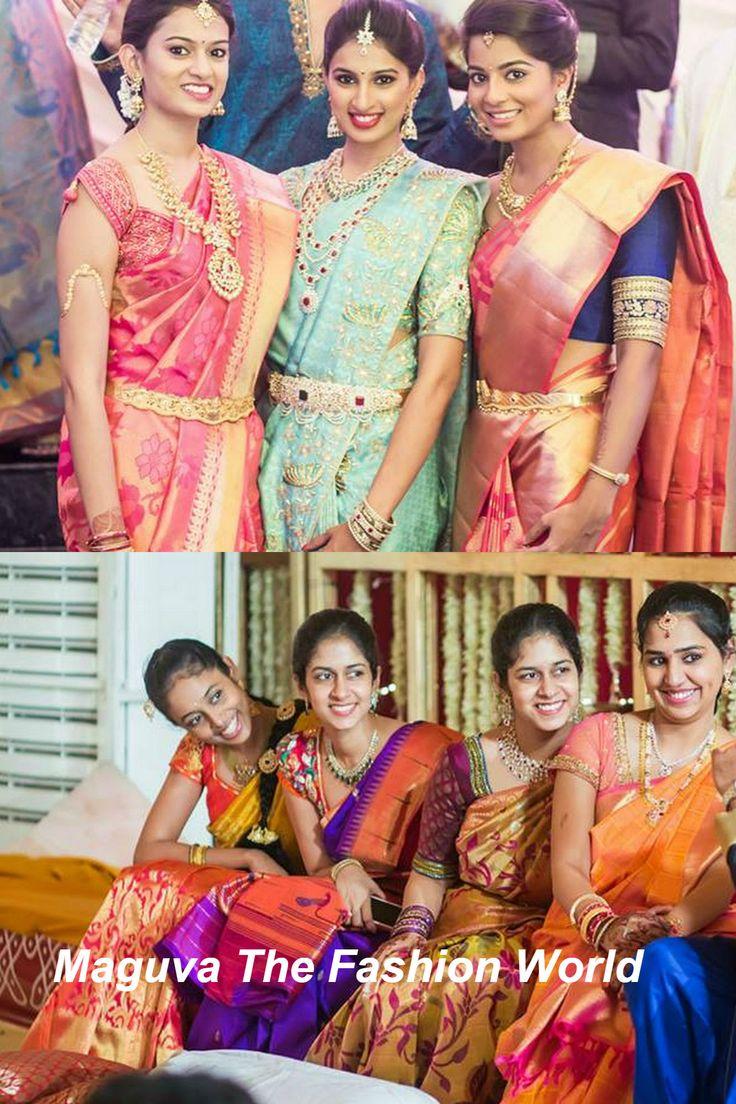 Ladies in Bridal wear in a wedding ceremony