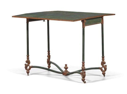 TABLE A VOLETS D'EPOQUE RESTAURATION SIGNATURE DE CHATILLON SS., VERS 1820