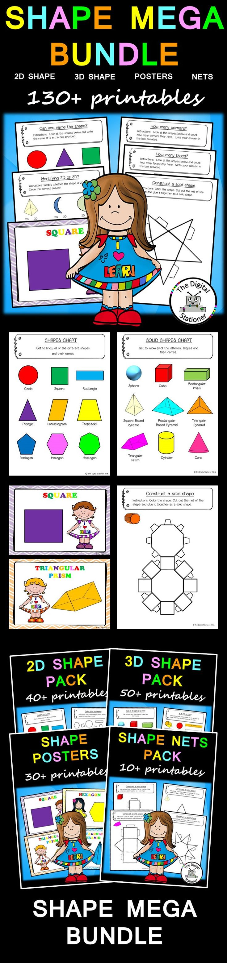 Kindergarten Calendar Math Powerpoint : Best ideas about shape posters on pinterest teaching