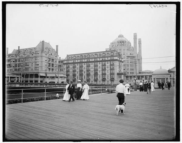 Image result for a portion of the atlantic city boardwalk opens to the public in new jersey in 1870