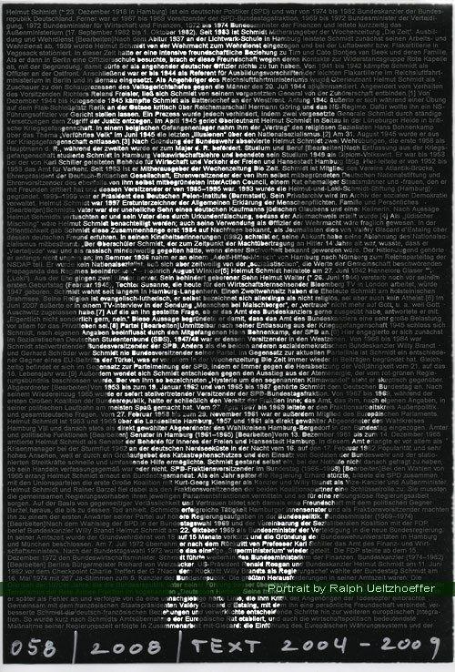 Helmut Schmidt, Ralph Ueltzhoeffer Textportrait