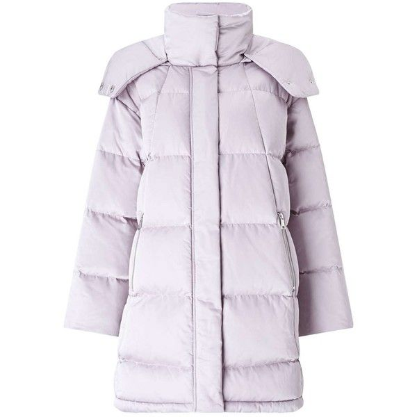Miss Selfridge Lilac Oversized Puffer Coat (3 305 UAH) ❤ liked on Polyvore featuring outerwear, coats, lilac, miss selfridge, lilac coat, oversized coat, puffy coat and miss selfridge coats