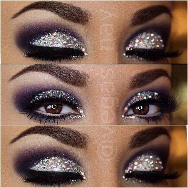 Bling eye makeup