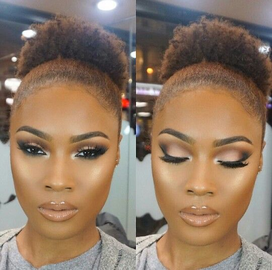 Prom Makeup for Brown Girls Perfect Highlight with Smoky Eyes and Flutter Lashes Nude Lips