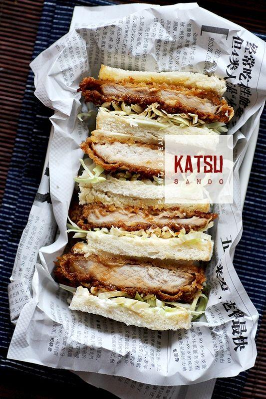 Katsu Sando, sandwich japonais au porc pané - Japanese fried pork cutlet…